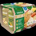 Blédina Pots Salés Printenière De Légumes Jambon X2, Épinards Semoule Merlu X1, Panais De Dinde X1 Dès 6 Mois  4x200g