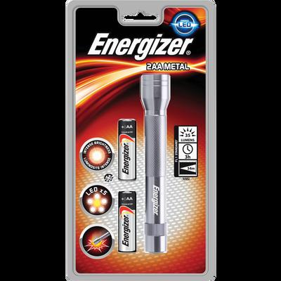 Torche 5 LED en métal ENERGIZER + 2 piles LR6 incluses