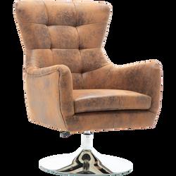 Fauteuil pivotant style vintage