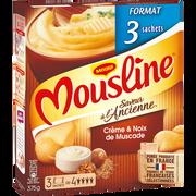 Maggi Purée De Pomme De Terre En Flocons Crème Et Noix De Muscade Mousline Maggi, 3 Sachets De 125g