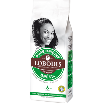 Lobodis Café Moulu Pure Origine Brésil Lobodis, Paquet De 250g