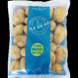 Pomme de terre Léontine, à chair ferme, AOP, calibre 35/55mm, catégorie 1, Ile de Ré, FRANCE, 1kg +10% gratuit