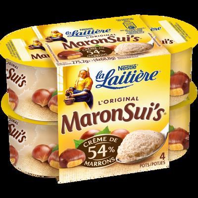 Mousse crème de marron maronsui's LA LAITIERE 4x69g