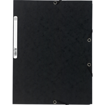 Chemise à élastique 3 rabats EXACOMPTA, 24x32 cm, carton, noir