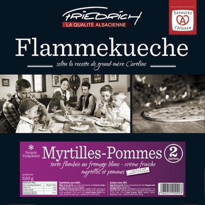 Tarte flambée surgelée myrtilles et pommes FRIEDRICH, 2x260g
