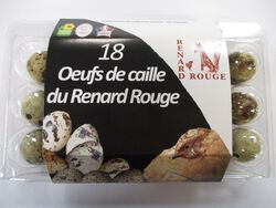OEUFS DE CAILLES DU RENARD ROUGE, BOITE DE 18 PIECES