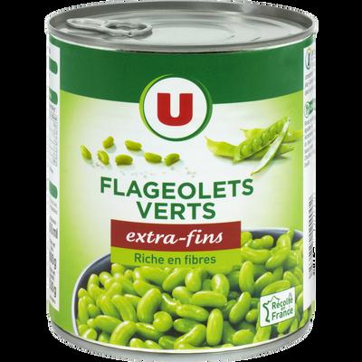 Flageolets verts extra-fins U, boîte de 4/4 530g