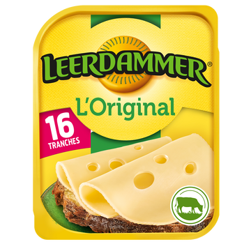 Leerdammer Fromage En Tranches Leerdammer L'original 16 Tranches, 400g