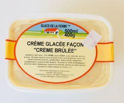 Crème glacée Crème brûlée, GLACE DE LA FERME, bac 500ml