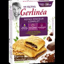 Mon repas barres fourrées chocolat saveur noisette GERLINEA 360g