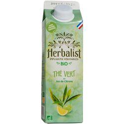 Boisson bio infusion thé vert jus de citrons sans sucres ajoutés HERBALIST