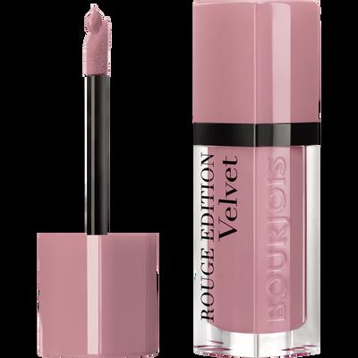 Rouge à lèvres édition velvet dont pink BOURJOIS