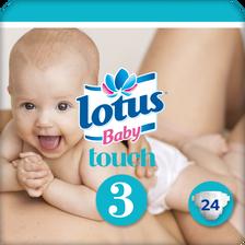 Changes pour bébé natural touche LOTUS BABY, taille 3, 4 à 9kg, x24