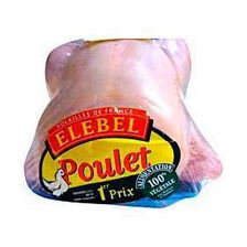 Poulet blanc prêt à cuire ELEBEL