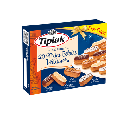 Mini éclairs pâtissiers TIPIAK, x20 soit 240g