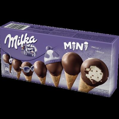 Mini cônes glacés MILKA, X8 140G