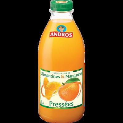 Jus de clémentines & mandarines réfrigérés ANDROS, bouteille de 1l