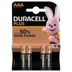 4 Piles Power Plus LR03 AAA DURACELL