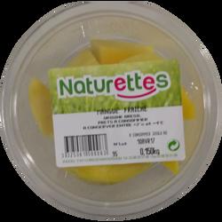 Mangue morceaux, NATURETTES, barquette, 150g