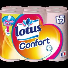 Papier toilette confort LOTUS, 12 rouleaux