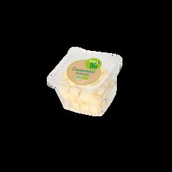 Dés d'emmental, BIO, lait pasteurisé, 30% Matières Grasses, 120g