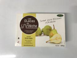 Sorbet à la poire, Les glaces de l'Ardèche 525g