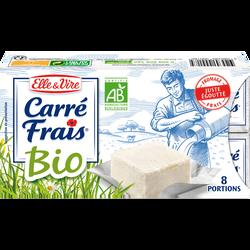 Fromage frais lait pasteurisé  15% de matière grasse BIO CARRE FRAIS,8x25g