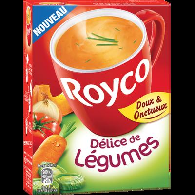 Soupe instantanée délice de légumes LIEBIG, 3 sachets, 60cl