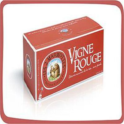 """Infusion """"Vigne Rouge"""" Les 2 Marmottes 30 sahcets"""