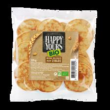 Minis blinis aux 2 blés bio HAPPY YOURS, x16 soit 135g