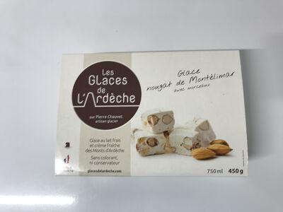 Glace nougat de Montélimar Les GLACES DE L'ARDECHE 450g