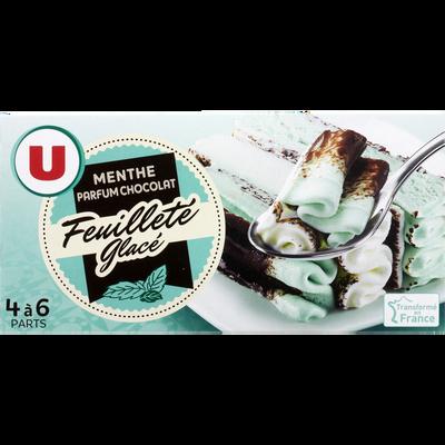 Feuilleté glacé menthe chocolat U, 321g