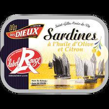 Sardines Label Rouge au citron LES DIEUX, 115g