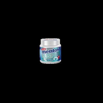 Chewing-gum sans sucre pure fresh frost strong eucalyptus menthol sanssucres MENTOS, boîte de 50 dragées, 100g
