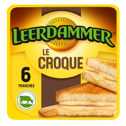 Fromage en tranches LEERDAMMER Le Croque 6 tranches, 150g