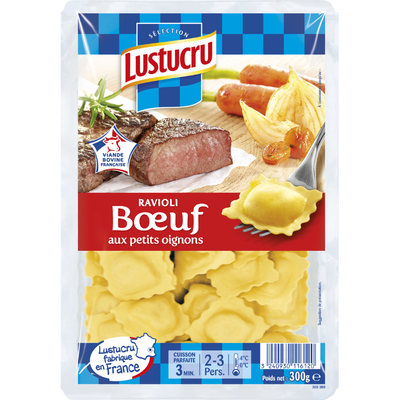 Raviolis au boeuf LUSTUCRU SELECTION, 300g