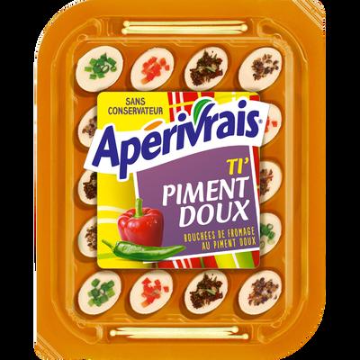 APERIVRAIS bouchées de fromage pasteurisé au piment doux, 29,5%MG, 100g