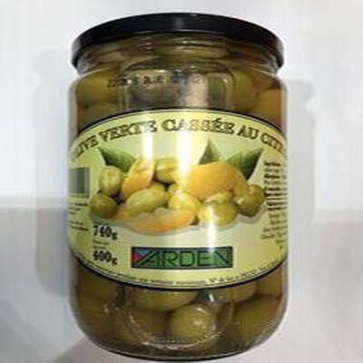Olives verte cassée au citron 400g