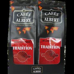 Café tradition moulu CAFES ALBERT, 2x250g
