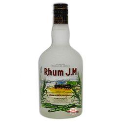 Rhum blanc agricole AOC de Martinique RHUM J.M, 50°, bouteille sérigraphiée de 70cl