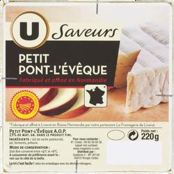 Pont l'Evèque AOP au lait pasteurisé U SAVEURS, 23%MG, 220g