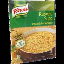 Soupe déshydratée Riewele Supp KNORR, sachet de 74g, 1l