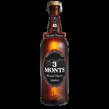 3 Monts Bière Blonde 9.5° Grande Réserve Trois Monts, Bouteille De 75cl