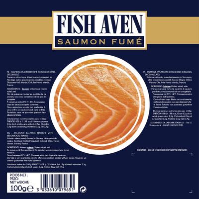 Saumon fume atlantique fish aven LABEYRIE, 100g