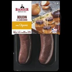 Boudin noir aux oignon BAHIER, 2x125g