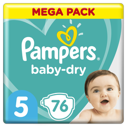 Couches baby dry PAMPERS 11-16kg megapack Taille 5 x76