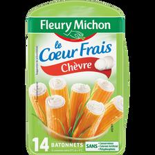 Bâtonnets de surimi Coeur de chèvre FLEURY MICHON, 14 unités, 224g