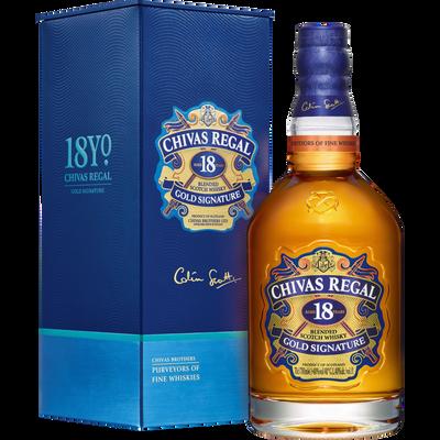 Scotch whisky Blended CHIVAS Regal, 40°, 18 ans d'âge, 70cl