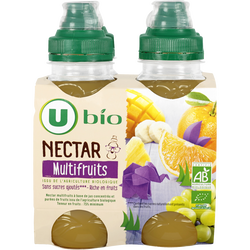 Nectar multifruits sans sucre ajoutés U BIO, 4x20cl
