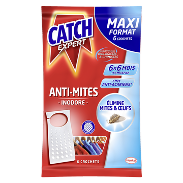 Catch Crochets Anti-mites Inodores Catch, X6